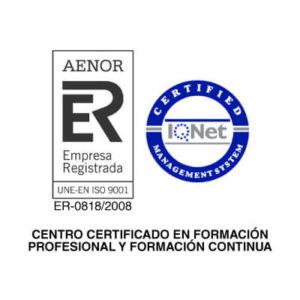 Centro certificado en Formación Profesional y Formación continua