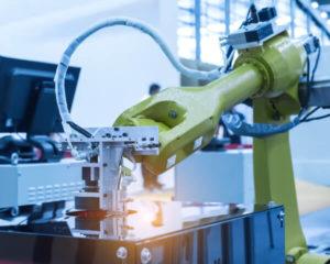 Robot en mecatrónica industrial